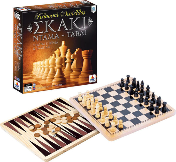 Σκάκι - Ντάμα - Τάβλι Επιτραπέζια 100735